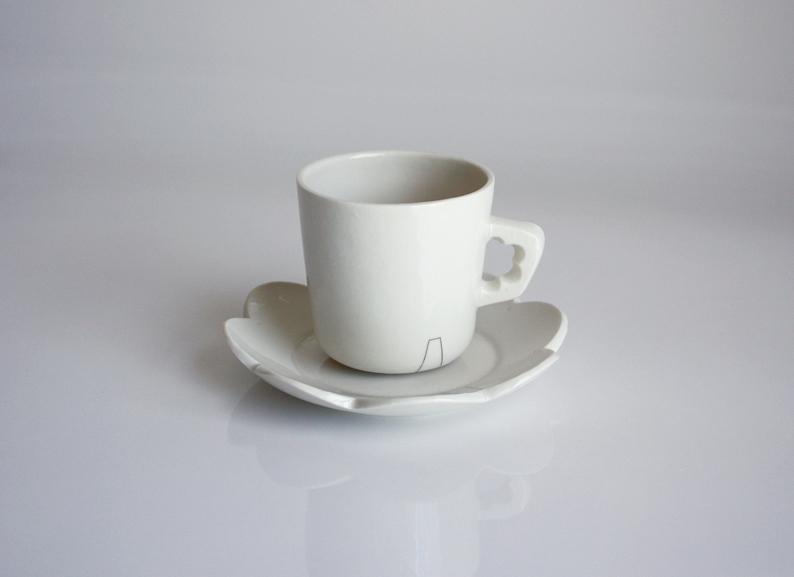 Espresso mug with plate